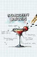 Strawberry Daiquiri Recipe Postcard