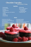 Chocolate Cupcake Recipe Postcard