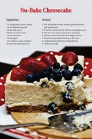 Cheesecake Recipe Postcard