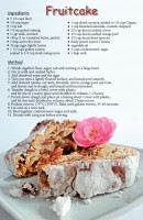 Fruitcake Recipe Postcard
