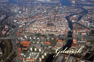 Bird-Eye View over Gdańsk