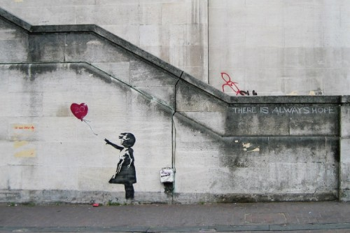 Banksy Girl Balloon by Dominic Robinson (CC Licence)