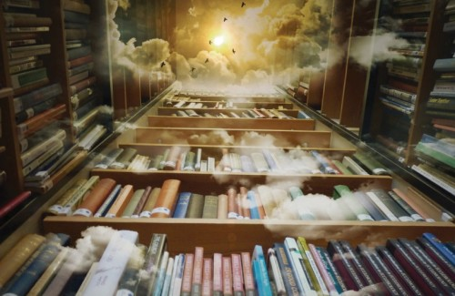 Heavenly Library Postcard