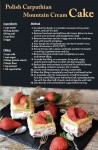 Carpathian Cake Recipe Postcard