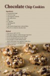 Chocolate Chip Cookie Recipe Postcard