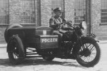 Postman with a motorcycle