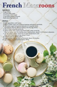 Macaroons recipe postcard