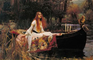 Lady of Shalott Postcard
