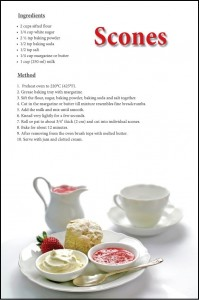 Scone Recipe Postcard