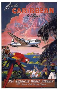 Caribbean Airways Poster Postcard