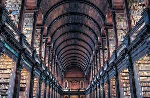 Trinity College Library Postcard
