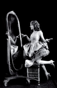 Mary Pickford Looking in a Mirror