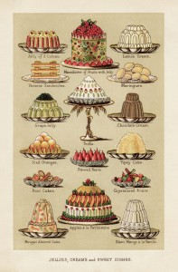 Jellies, Creams and Sweet Dishes Postcard