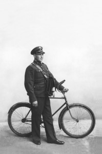 Postman with a bicycle