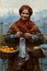 Jewess with Oranges by Aleksander Gierymski Postcard
