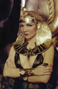 Claudette Colbert as Cleopatra