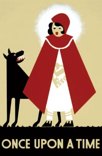 Little Red Riding Hood Poster Postcard