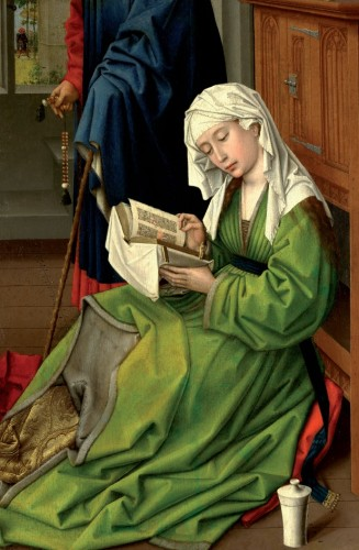 The Magdalen Reading by Rogier van der Weyden Postcard
